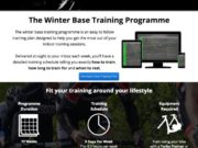 Cycling Winter Base Training Plan